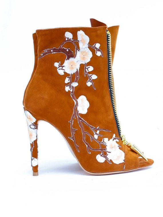 Botine de dama Mineli Cherry Blossom Camel