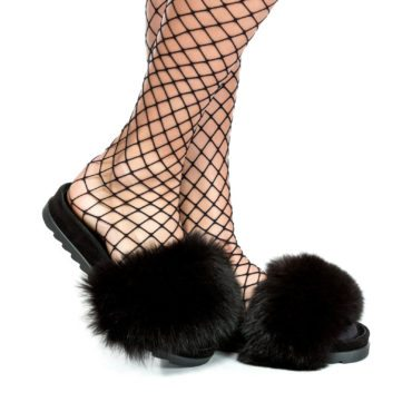 Saboți de damă Mineli New Flip Flop Black