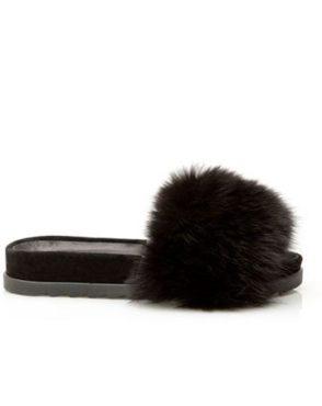 Saboți de damă Mineli New Flip Flop Black 1