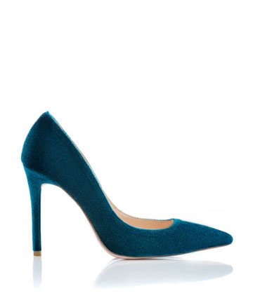 Pantofi de dama Mineli Bella Velvet Blue 1