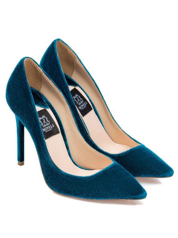 Pantofi de dama Mineli Bella Velvet Blue