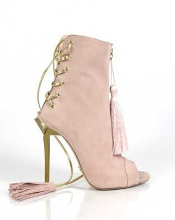 Sandale de dama Mineli Glam Tassels Pink 1