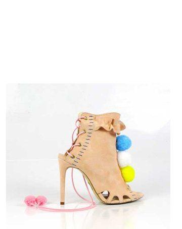 Sandale de damă Mineli Lola Beige 1