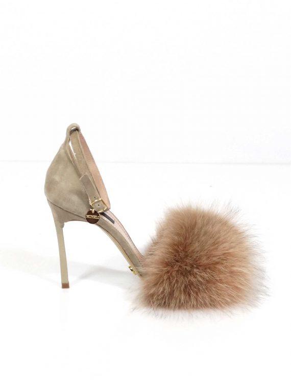 Sandale de damă Mineli Puff Beige