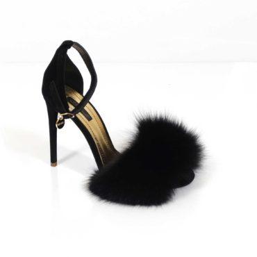 Sandale de damă Mineli Puff Black
