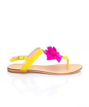 Sandale de damă Mineli Georgia Yellow