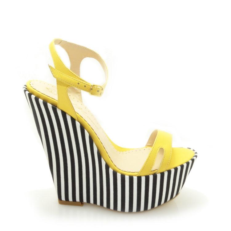 Sandale de dama Mody Yellow Stripe