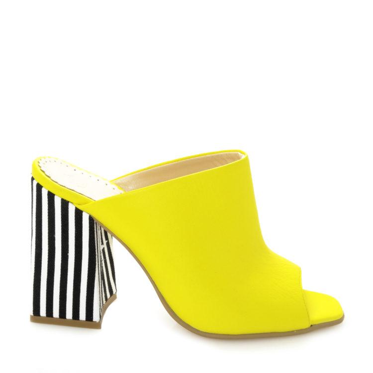 Saboti de dama Arella Stripe Yellow
