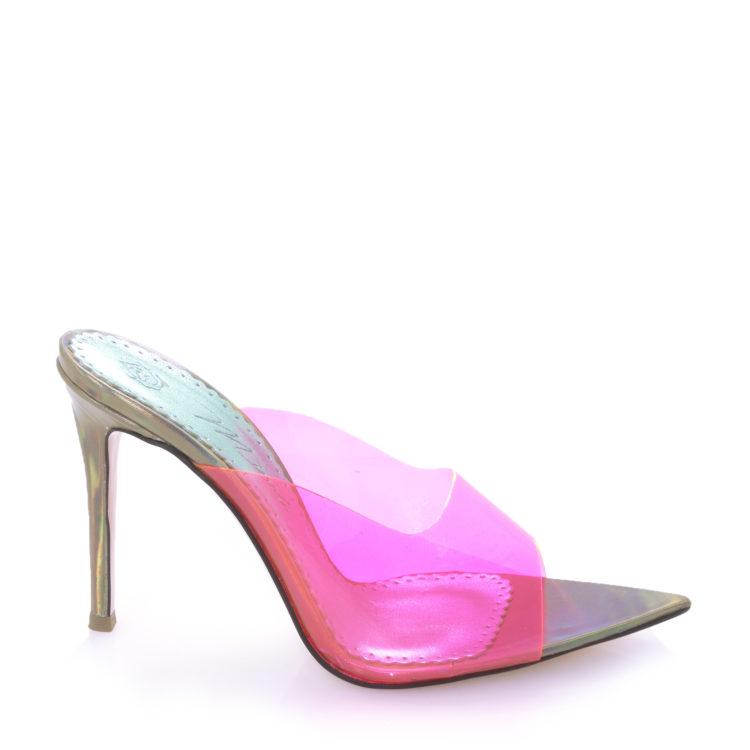 Sandale de dama Celia Neon Pink