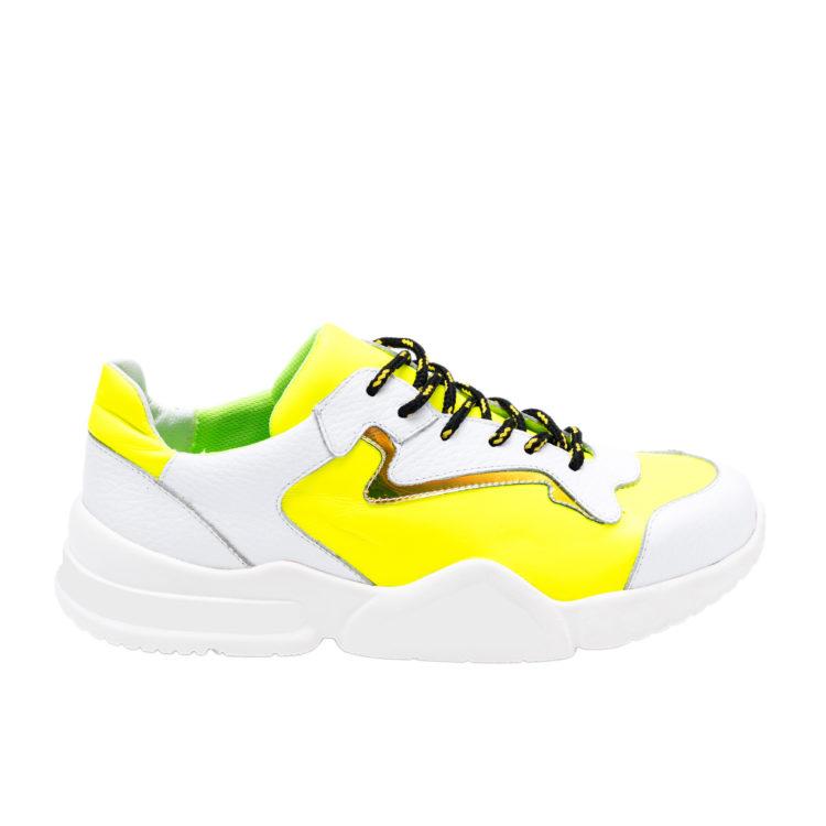 Sneakers Mineli Quantum Yellow - White