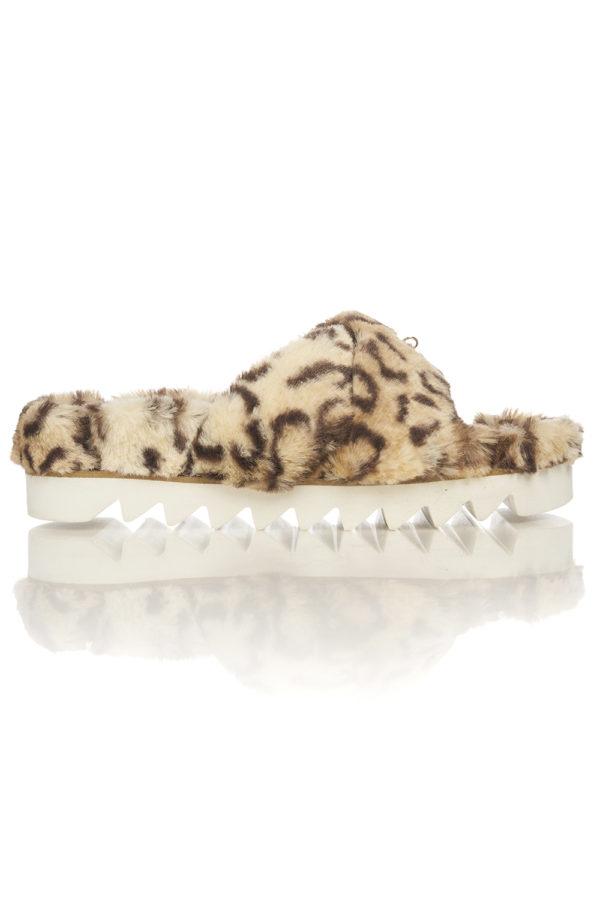 Papuci de Casa Mineli Prancer Leopard 1
