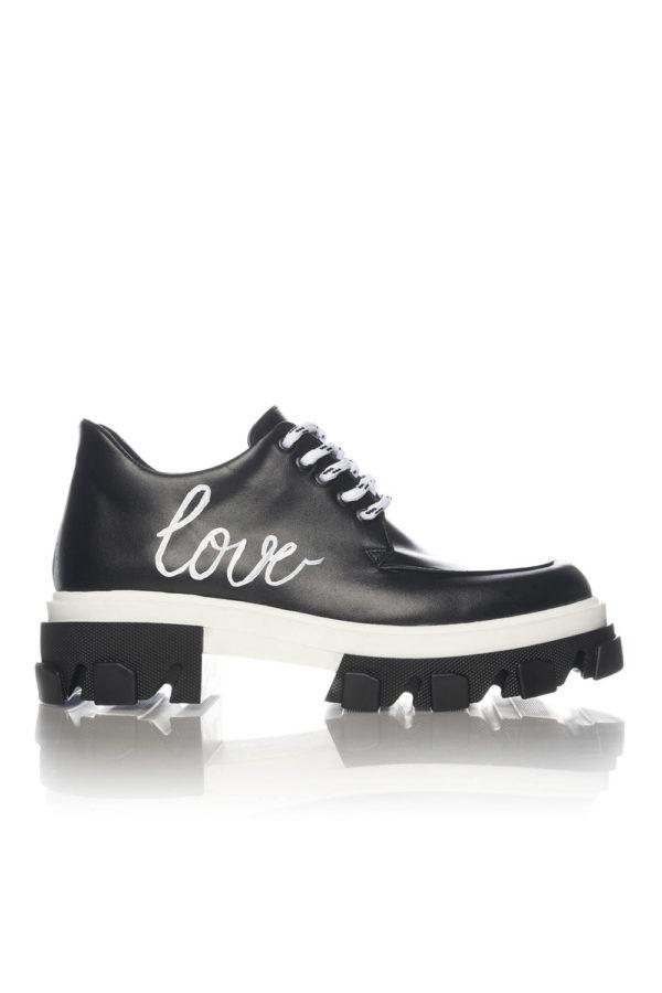 Pantofi Casual Mineli Venti Love Black