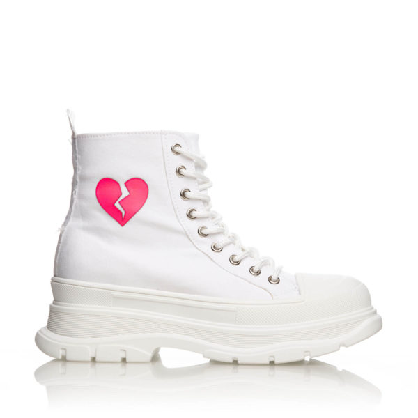 Sneakers Inalti Mineli Queen Albi Heart 1