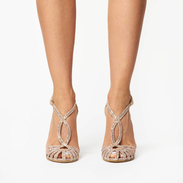 Sandale Mineli Roya Gold Glitter 1