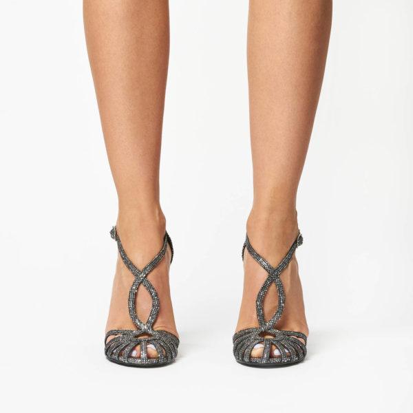 Sandale Mineli Roya Silver Glitter 1